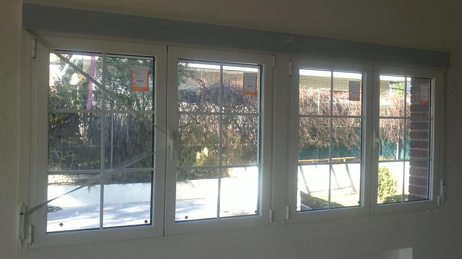 Foto vision interior de ventana de 4 hojas con rotura de - Ventana rotura puente termico ...