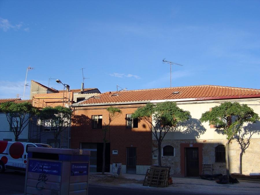 Vista completa del tejado terminado