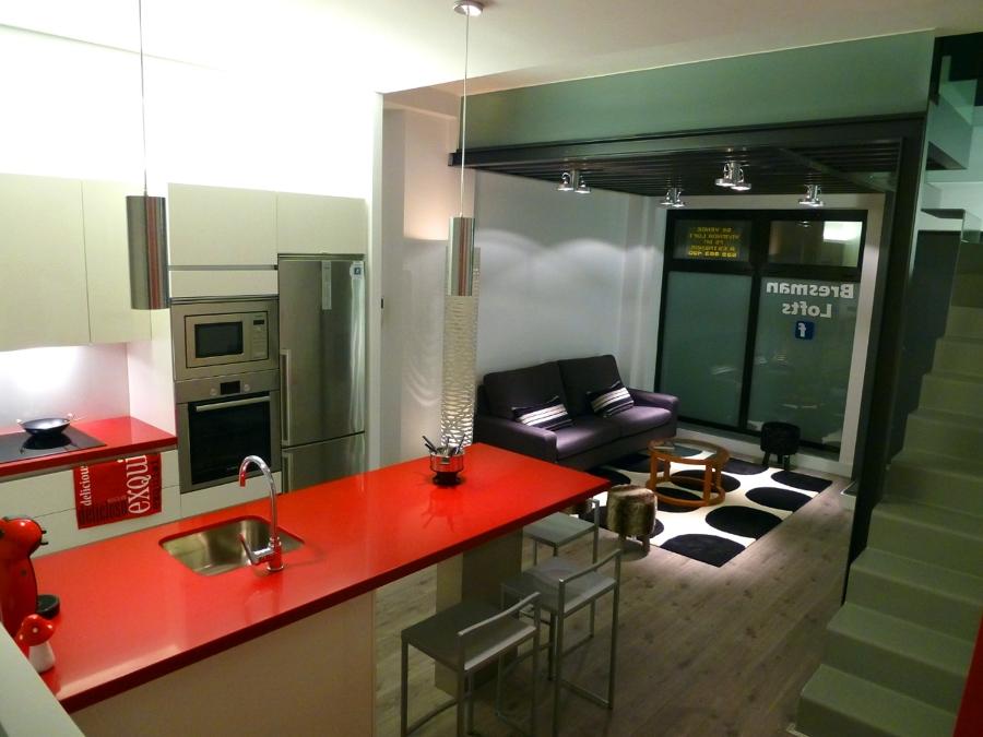 Vista General Cocina - Salon