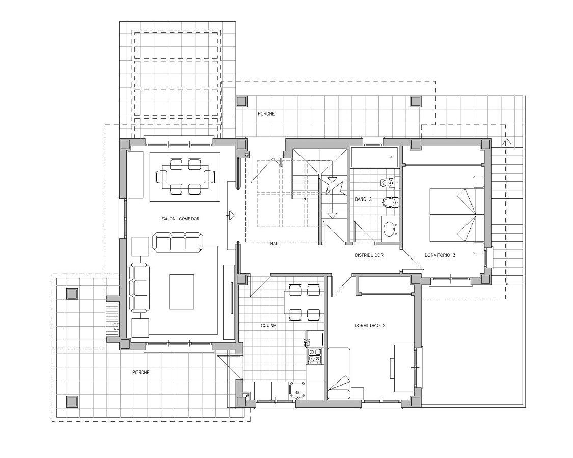 Foto vivienda unifamiliar 1 planta baja de drl ayanz for Plantas de viviendas modernas