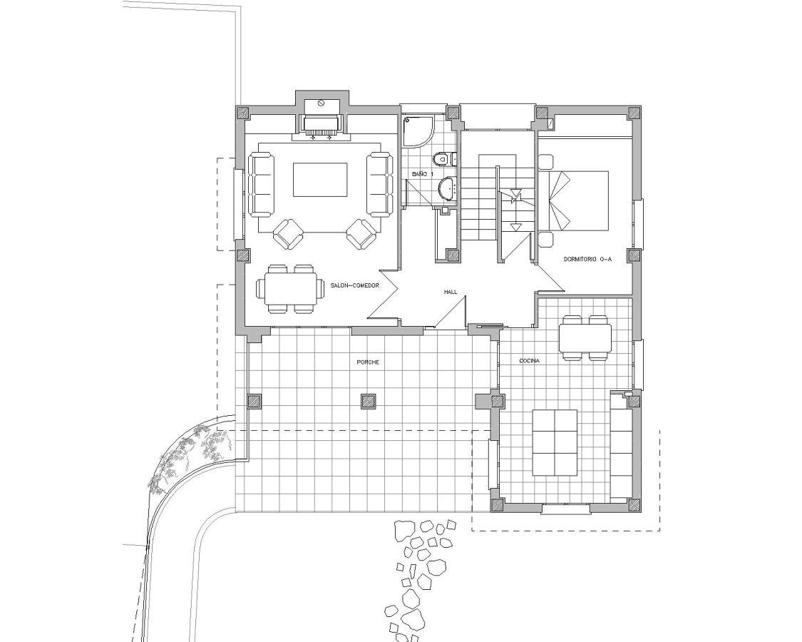 Foto vivienda unifamiliar 3 planta baja de drl ayanz - Fotos de casas de planta baja ...