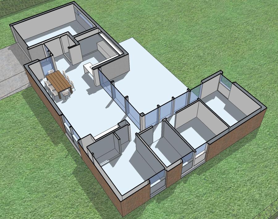 Foto vivienda unifamiliar de una planta en valencia de for Disenos de viviendas de una planta