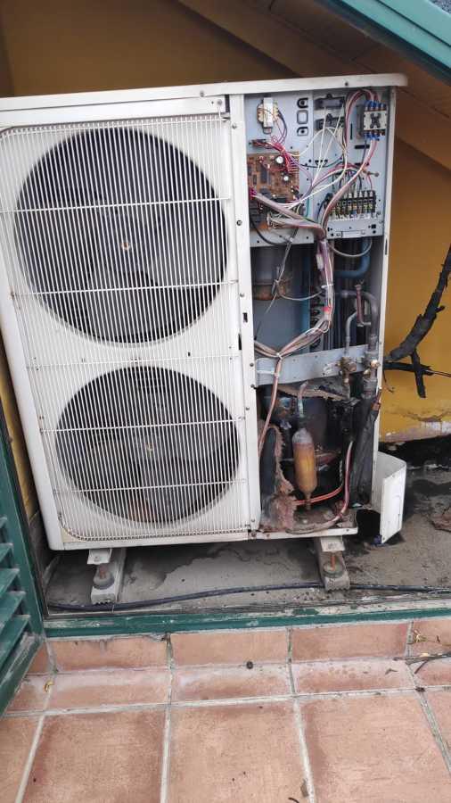 Reparación máquina aire acondicionado