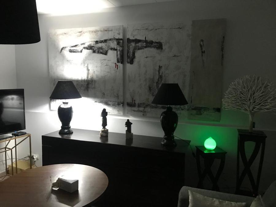 iluminación, paredes, decoración