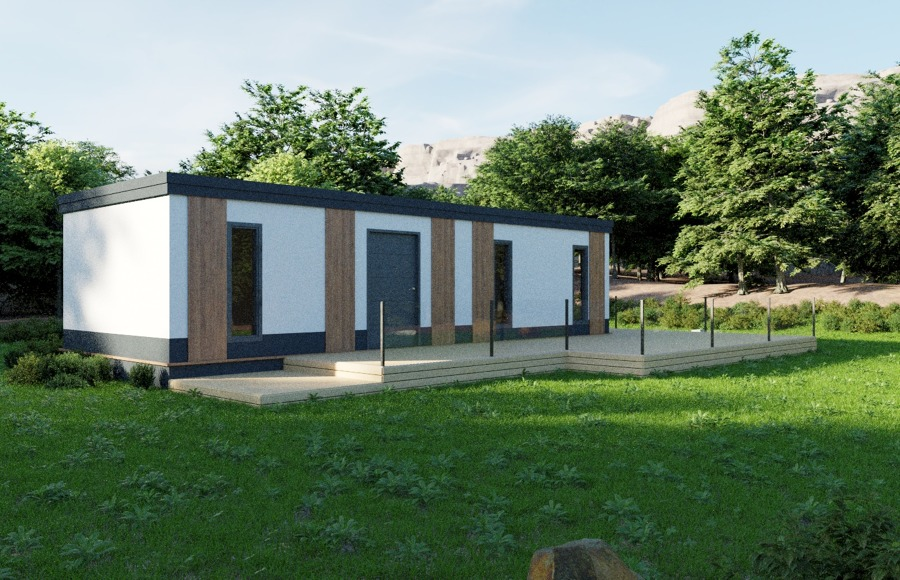 Casa prefabricada de un módulo
