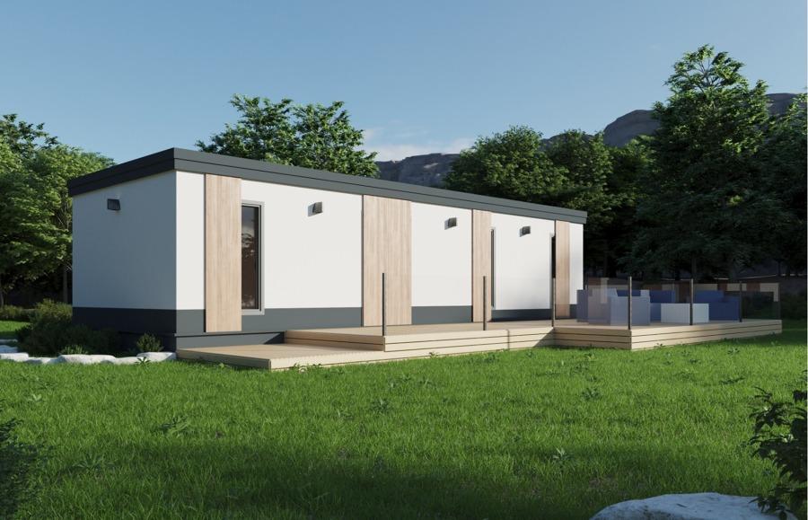 Casa prefabricada modular con avance