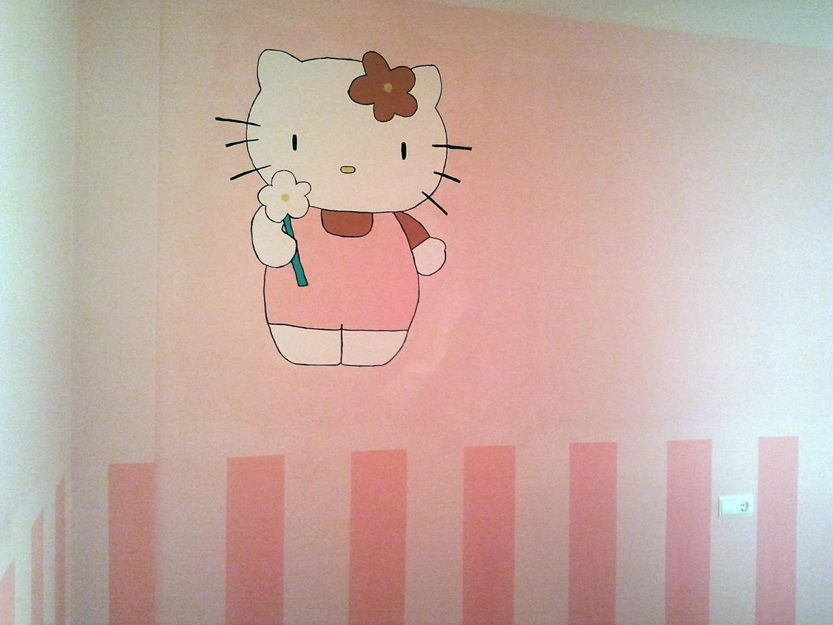 Foto zocalo pintado y hello kitty pintada de jorge solis - Zocalos de madera para pared ...