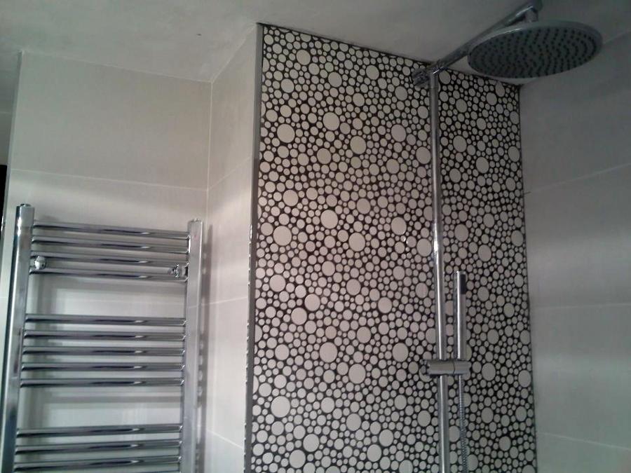 Foto zona ducha con duch n y frontal en gresite de romar - Gresite banos precios ...