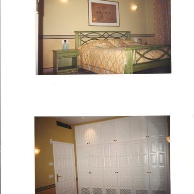 Pintado de paedes combinado con opa de cama y muebles