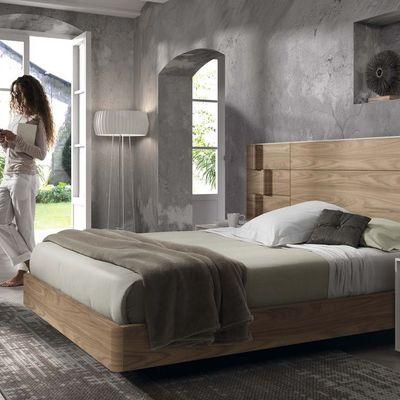 Dormitorio Chapa Olmo y Lacado Almendra