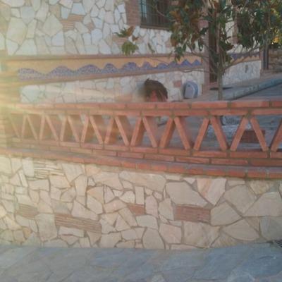 Construcción de balustrada con tocho manual