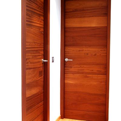 Puertas de iroko