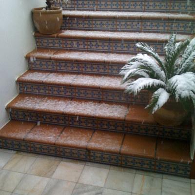 Detalle escalera exterior