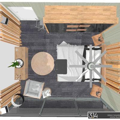 Dormitorio de inspiración zen