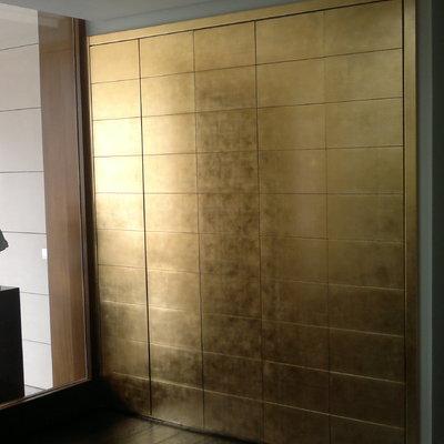 Frente armario en pan de oro