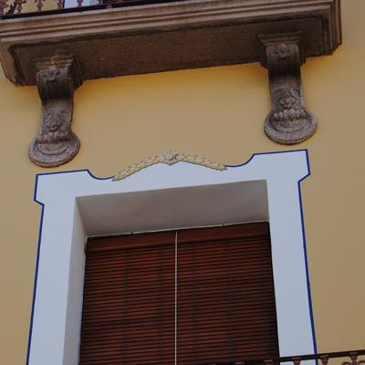 Pintura decorativa en ventanas