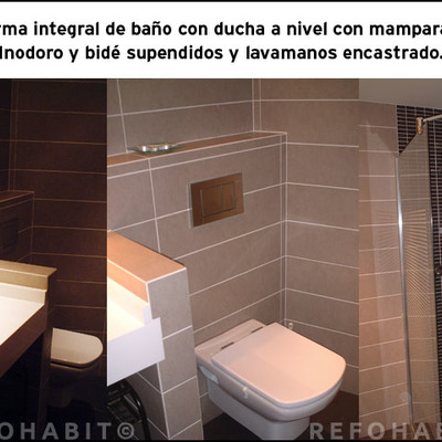 Reforma de baño integral en el barrio de Horta, Barcelona.