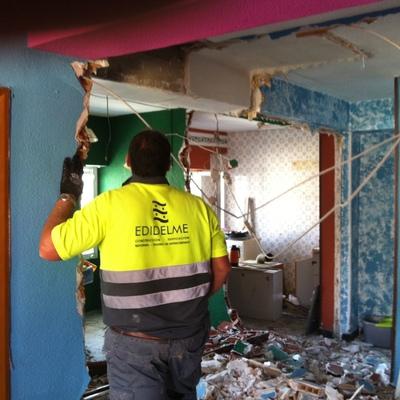 demolición de vivienda.