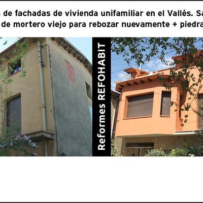 Reforma de fachada de casa unifamiliar en el Vallès, Barcelona.