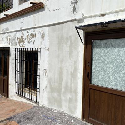 Reparacion de fachada con red etc...