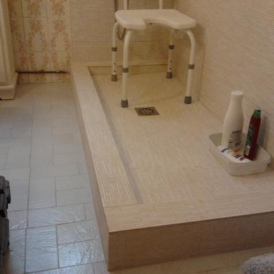 Cambiar bañera por plato de ducha de obra, adaptado (Majadahonda)