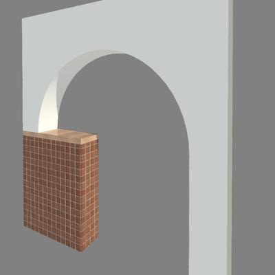 Visualización 3d arco pladur