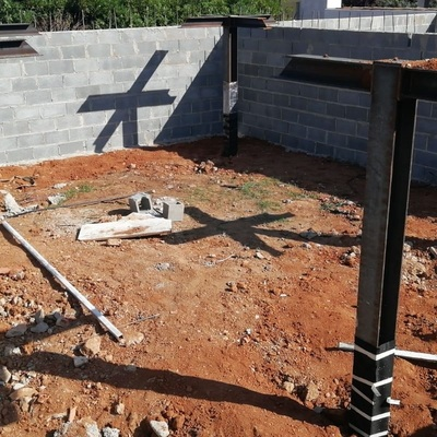 Pilares y Muros para Casa Prefabricada