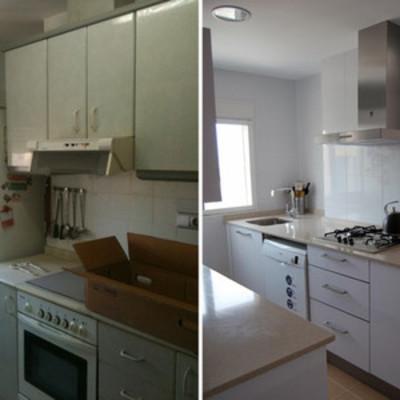 Cocina antes y después