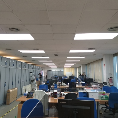 Instalación de Iluminación LED en oficinas