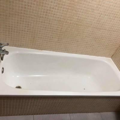 ANTES de Instalación de funda de bañera