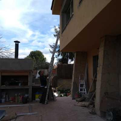 Reforma casa unifamilar en proceso