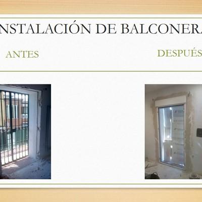 INSTALACIÓN DE BALCONERA