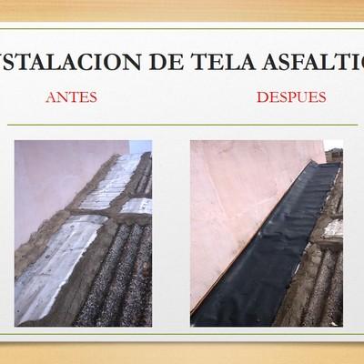 SUSTITUCIÓN DE TELA ASFÁLTICA EN MAL ESTADO