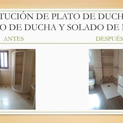 SUSTITUCIÓN PLATO DE DUCHA POR PLATO DE DUCHA Y SOLADO BAÑO