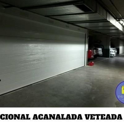 PUERTA SECCIONAL ACANALADA VETEADA 7 METROS