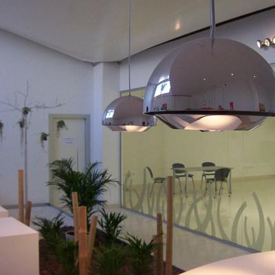 Jardín artificial en oficinas