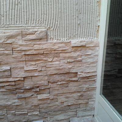 Aplacado de piedra, fachada de chalet (Majadahonda)