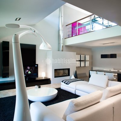 Ideas y fotos de salones de estilo minimalista en zaragoza for Casa minimalista tarragona