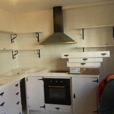 cocina de paredes de monocapa