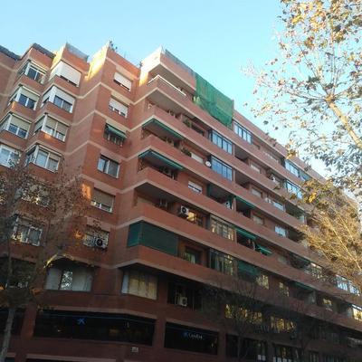 Proteccion balcon para hacer reparaciones Barcelona