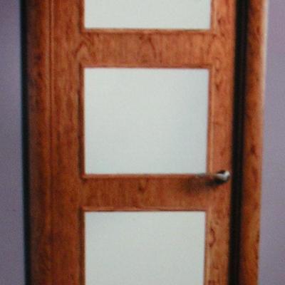 puerta cristalera de cedro
