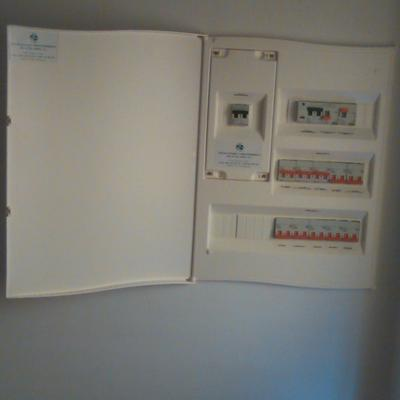 Caja de circuitos de vivenda