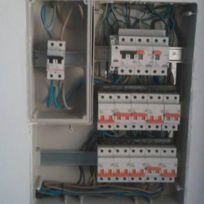 Cableado interior de caja de circuitos