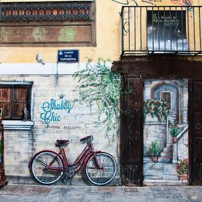 mural tienda de ropa