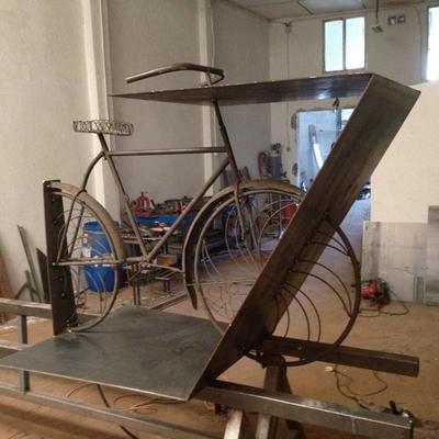 Mesa tipo bici sin pintar