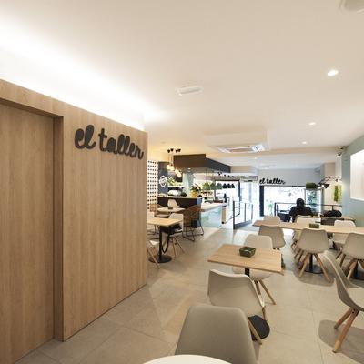 Zona de mesas franquicia panadería con degustación | Sincro