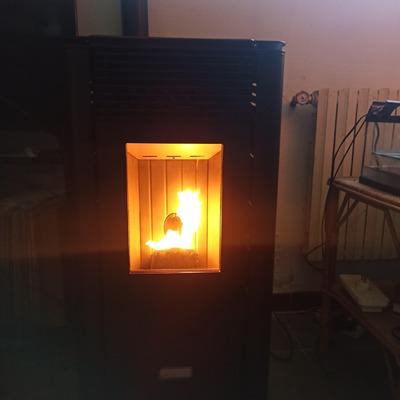 Instalación de estufa de pellets