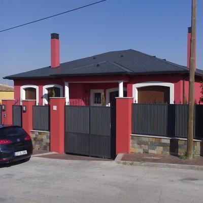 Vista fachada principal viv. unifamiliar Colmenar de Oreja