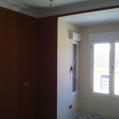 Sustitución de ventanas, colocación de falso techo y pintura