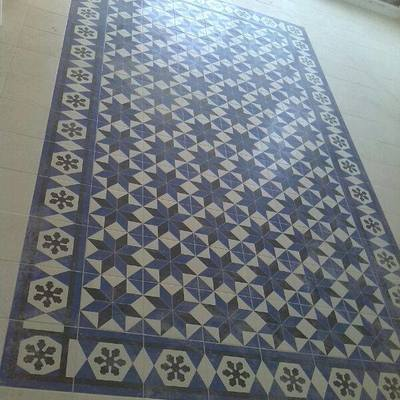 Mosaico del suelo de la cocina